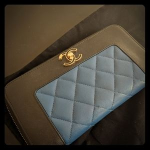 RARE! Chanel Mademoiselle Quilted Wallet